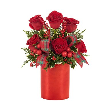 Holiday Rose Shimmer Bouquet (BF430-11KM)